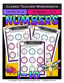 Numbers 1 to 10 - Count Number of Objects - Kindergarten-G