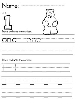 Numbers 1 to 10 (English)