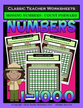 Numbers 1 to 1000-Missing Numbers-Count Forward 1 to 1000-