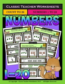 Numbers 1 to 20-Count Number of Objects in each Group-Grad