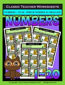 Numbers 1 to 20 - Determine Which Number Is Smaller - Grad