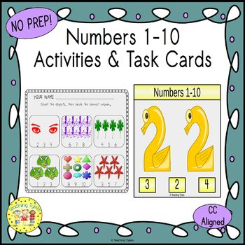 Numbers 1-10 Count and Clip TaskCards