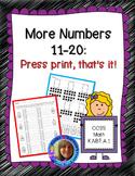 Numbers 11-20: Press Print, That's It!