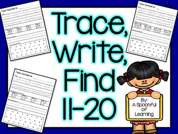Numbers 11-20 Trace, Write, and Find