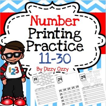 Numbers Printing Practice