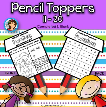 Numbers 11 to 20 {Pencil Toppers}