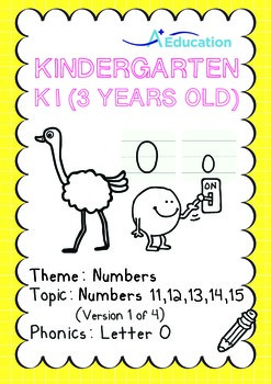 Numbers - 11,12,13,14,15 (I): Letter O - K1 (3 years old),
