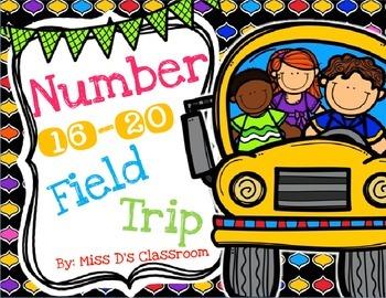 Numbers 16 - 20 Field Trip Bundle!