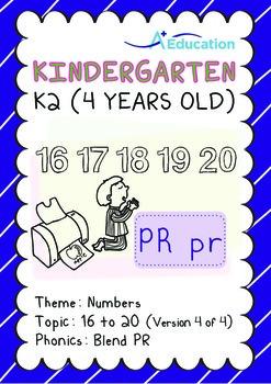 Numbers - 16 to 20 (IV): Blend PR - K2 (4 years old), Kind