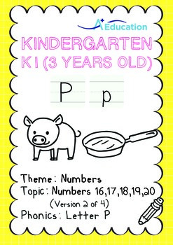 Numbers - 16,17,18,19,20 (II): Letter P - K1 (3 years old)