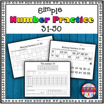 Number Sense Activity - Worksheets 31-50