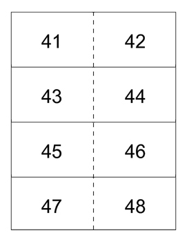 Numbers 41-80 flashcards