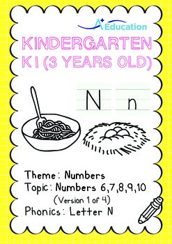 Numbers - 6,7,8,9,10 (I): Letter N - K1 (3 years old), Kin