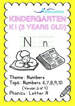 Numbers - 6,7,8,9,10 (II): Letter N - K1 (3 years old), Ki