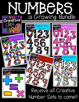 Numbers: A Growing Bundle {Creative Clips Digital Clipart}