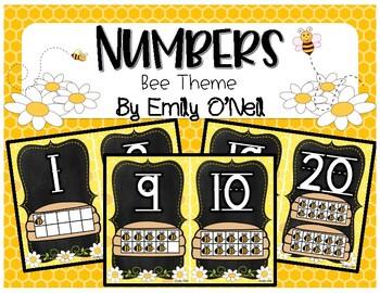 Numbers (Bee Theme)