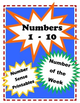 Numbers 1-10 / Number Sense Practice Worksheets / Number o