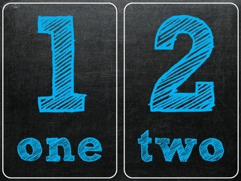 Numbers Chalk edition
