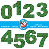 Numbers Clip Art (Ladybugs) — Numbers 0-9
