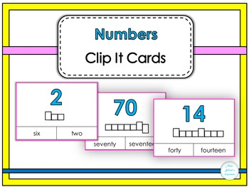 Numbers Clip It Cards