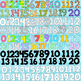 Numbers Clipart ~ 3 Different Styles ~ 30 Color, Solid Bla