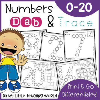 Numbers Dab & Trace Worksheets Set