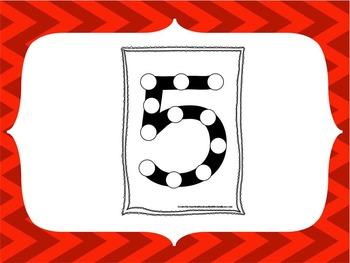 "Numbers Do a Dot Numbers ""1-20"". 20 Printable preschool da"
