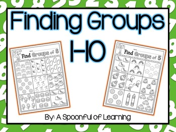 Numbers 1-10 Finding Groups