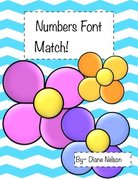 Numbers Font Match 0-20!