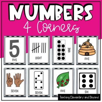 """Numbers """"Four Corners"""" Game"""