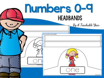 Numbers Headbands from 0 to 9