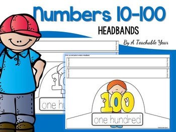 Numbers Headbands from 10 to 100