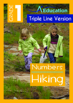 Numbers - Hiking (I) - Grade 1 (with 'Triple-Track Writing