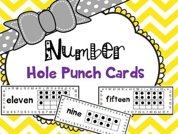 Numbers Hole Punch Cards