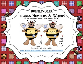 Numbers & Number Words - Bumbly-Bear Learns Numbers & Numb