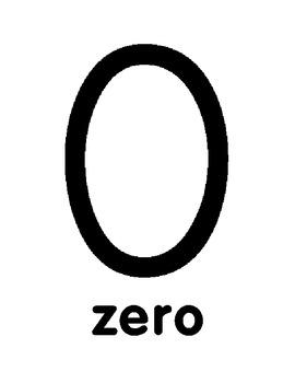 Numbers, Numerals, Number Words, Display 0-10