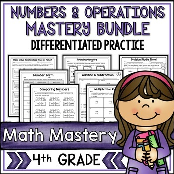 Numbers & Operations Bundle Fourth Grade Common Core Math