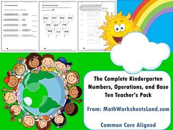 Kindergarten Numbers, Operations, and Base Ten Teacher's P