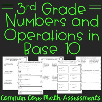 Numbers & Operations in Base Ten 3rd Grade Assessments
