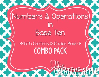 Numbers & Operations in Base Ten Combo Pack