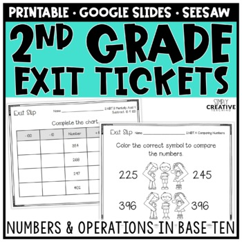 Numbers & Operations in Base Ten Exit Slips