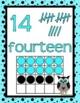 CLASSROOM DECOR: Numbers, Number Posters, Decor, Aqua & Bl