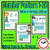 NUMBERS POSTERS: Blue & Green Edition