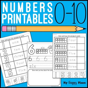 Numbers Printables: Counting &  Cardinality Practice for K