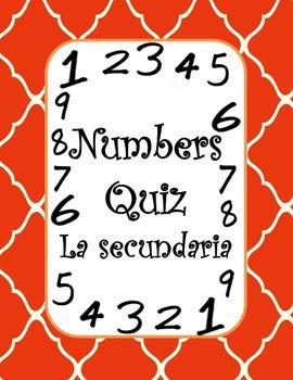 Numbers Quiz