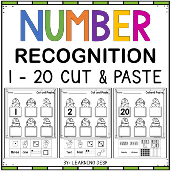 Number Worksheets - Number sense Cut And Paste 1 to 20