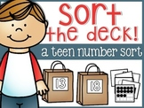 Numbers Sort The Deck: Teen Number Edition