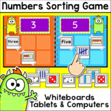 Numbers Sorting Game for Whiteboards and Computers - Numbe