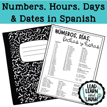 Numbers, Times, Days & Dates in Spanish