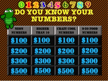 Begining Math: Numbers Trivia Game